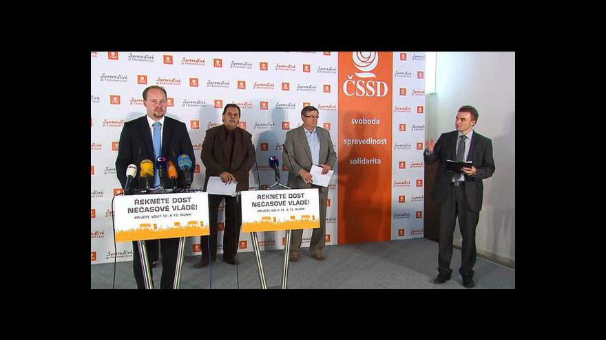 Video Brífink ČSSD o situaci kolem MPSV a dalších věcech