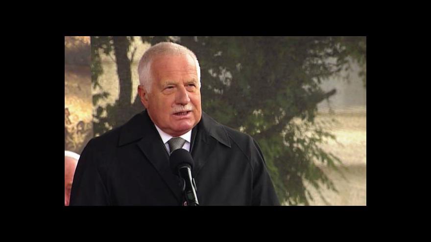 Video Reportáž o útoku na Václava Klause