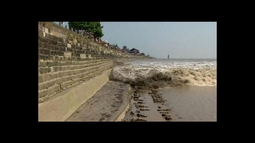 Video Příliv na řece v Číně