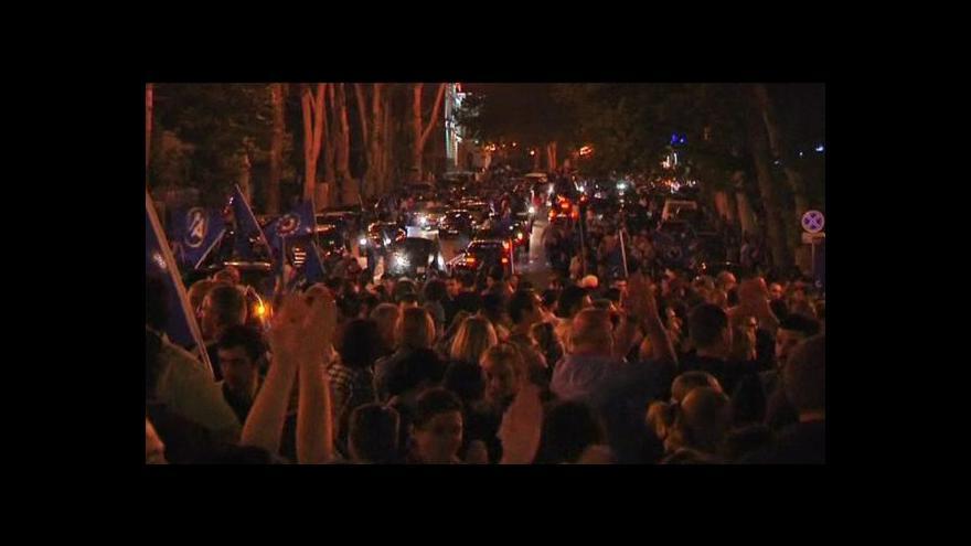 Video Vyhrály jsme, hlásí opoziční i vládní strany v Gruzii