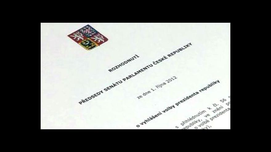 Video Prezidentská volba bude 11. a 12. ledna 2013