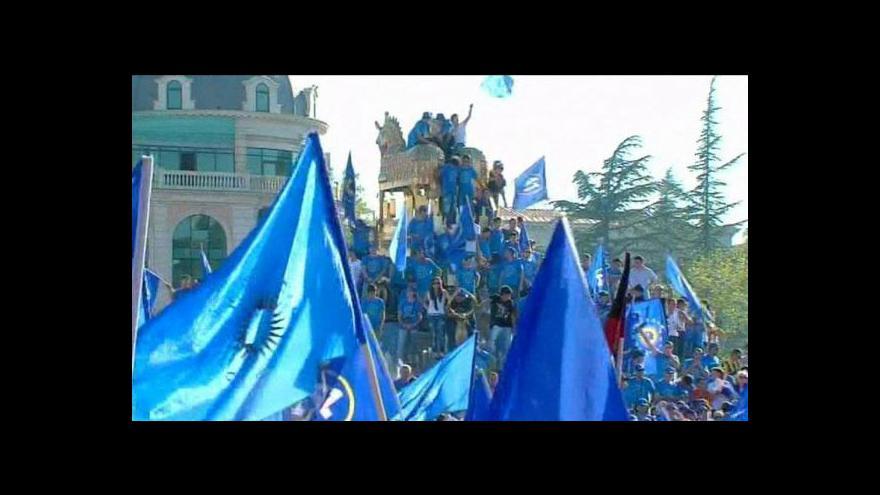 Video Předvolební Gruzie: Neklid před bouří
