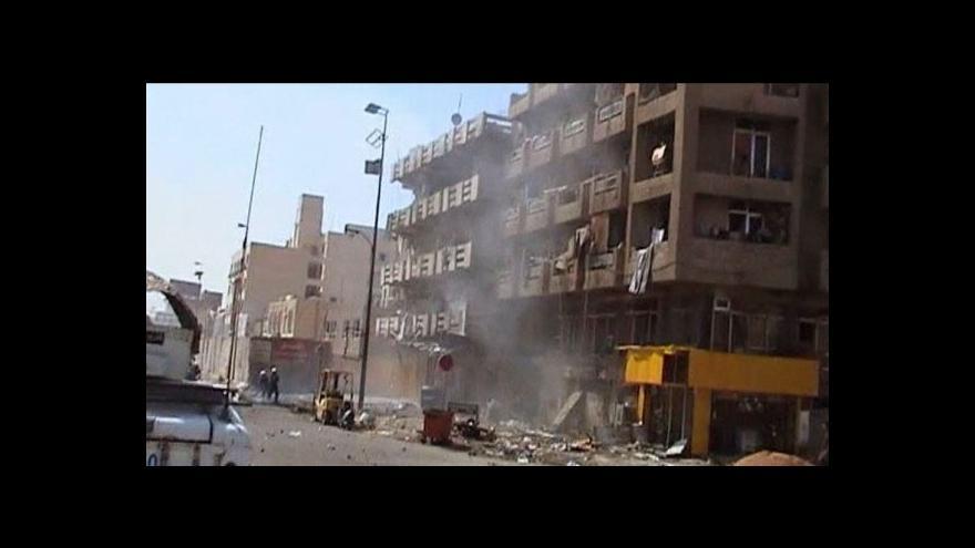 Video Série pumových atentátů na policejní stanice a šíity v Iráku