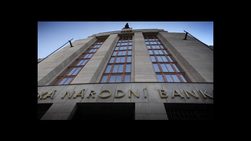 Video ČNB snížila úrokové sazby