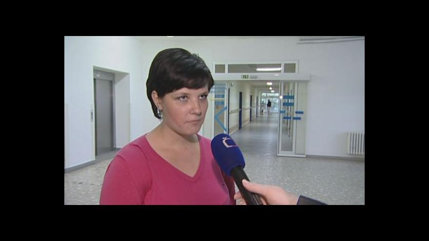 Video Mluvčí nemocnice Veronika Klímová o přijaté pacientce