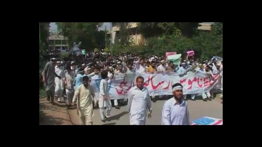 Video V Pákistánu násilné protesty proti filmu
