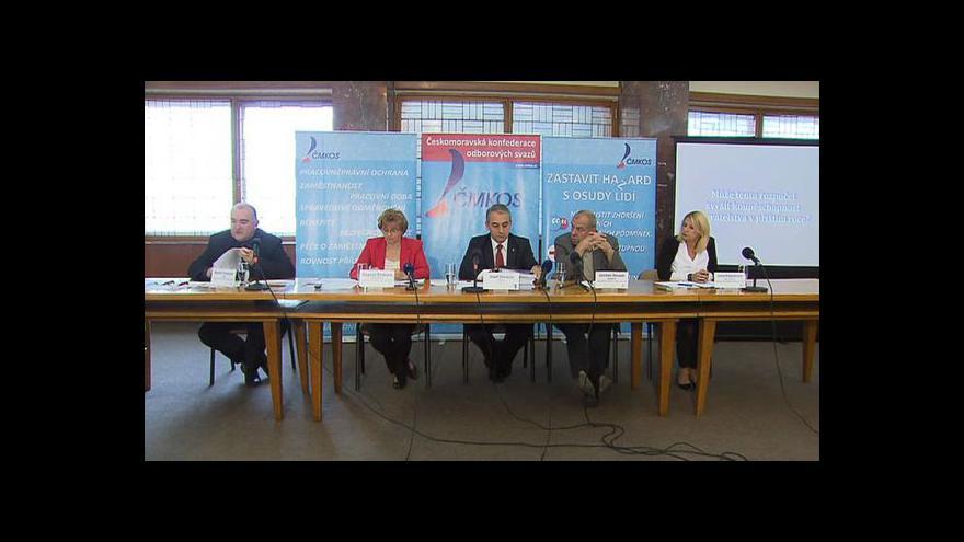 Video Brífink odborů k návrhu státního rozpočtu na r. 2013