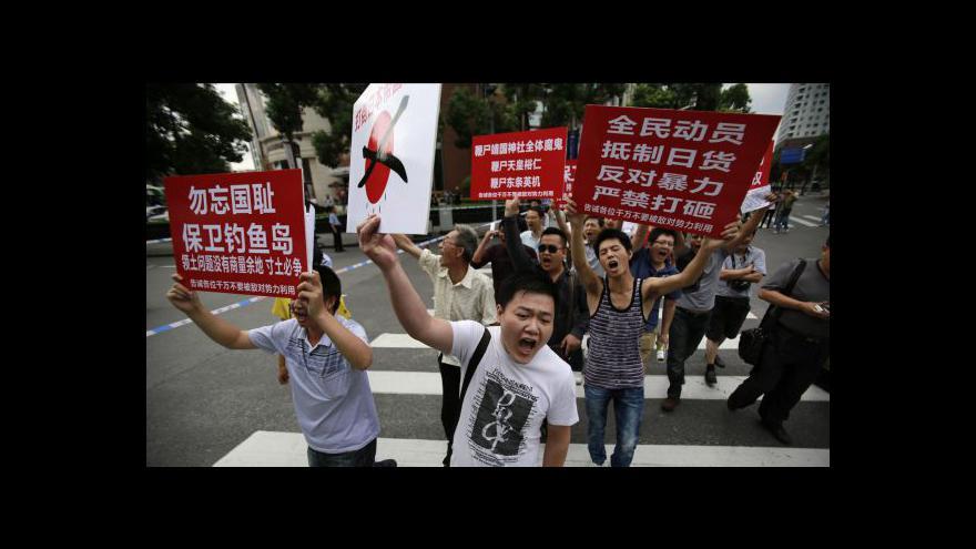 Video Spor Japonska a Číny přešel do ulic