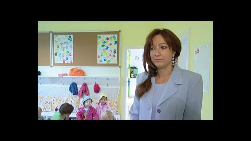 Video O podmínkách přijetí do firemní školky hovoří Šárka Neničková