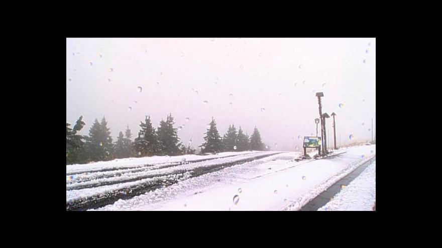 Video No comment: První sníh v Jeseníkách