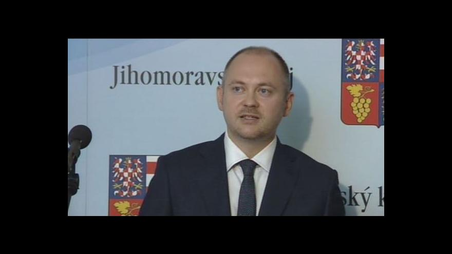 Video Hejtman Michal Hašek (ČSSD) po jednání krizového štábu