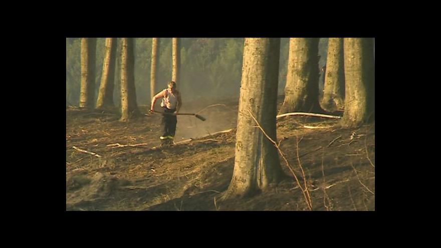 Video No comment: Zásah hasičů v lese u Koryčan