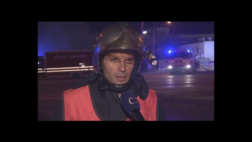 Video Velitel zásahu Zdeněk Chvátal o požáru tržnice