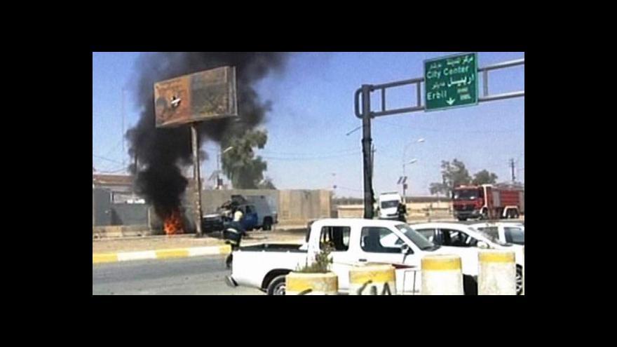 Video Irákem otřásla série výbuchů
