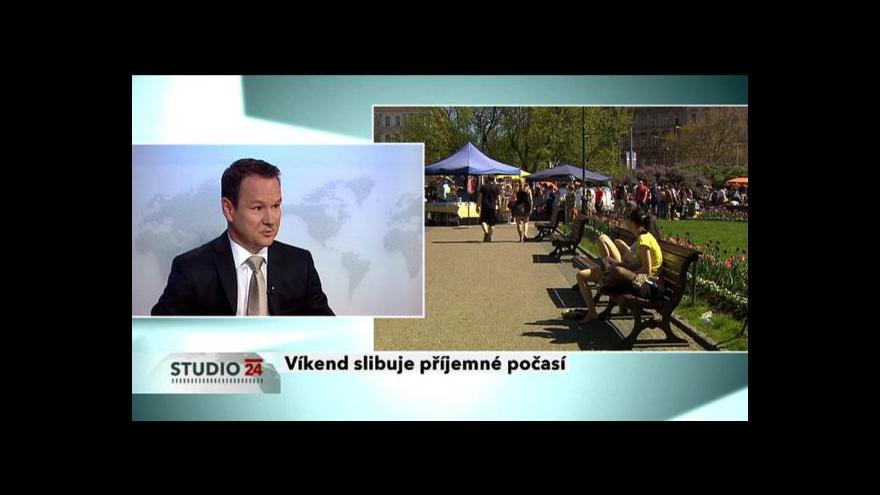 Video Meteorolog Pavel Karas hostem Studia ČT24