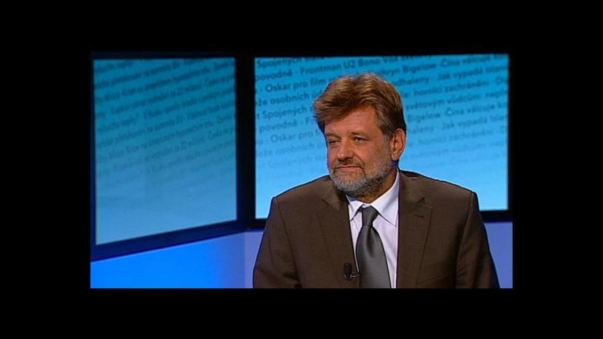 Video Jan Kubice, ministr vnitra, hostem Událostí, komentářů