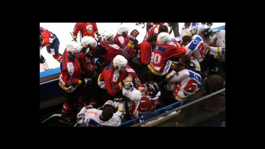 Video Bitka v zápase Třebíč - Znojmo