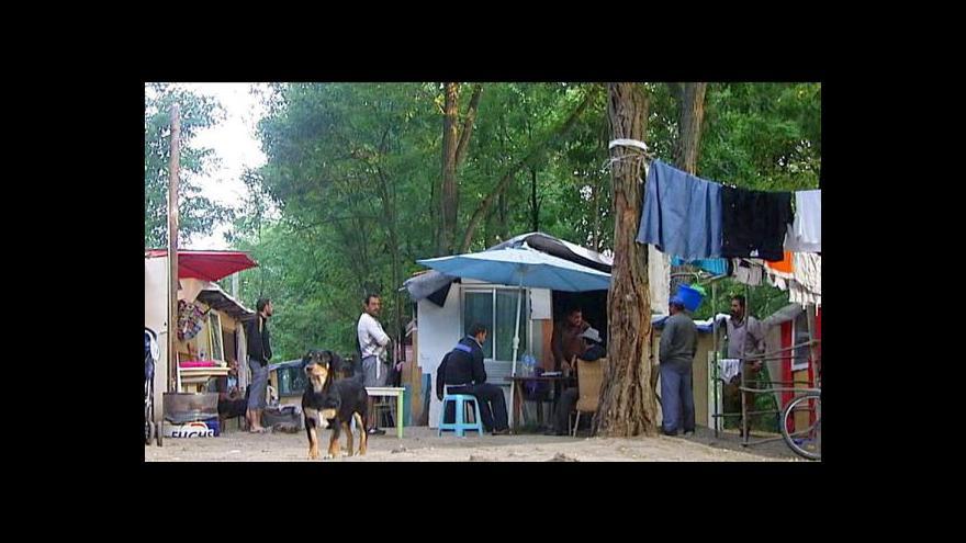 Video Rumunští Romové z Évry se musí stěhovat