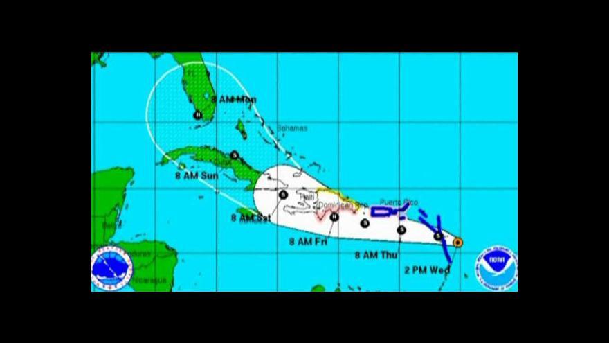 Video Bouře Isaac míří na Karibik