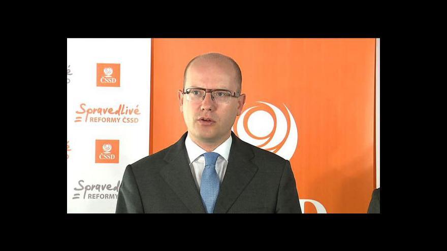 Video Vyjádření předsedy ČSSD Bohuslava Sobotky