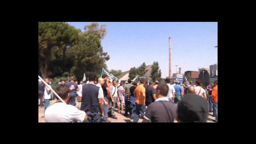 Video Odbory brojí proti zavření ocelárny v Tarantu