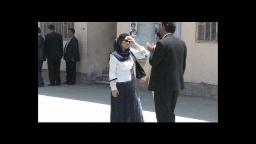 Video Afghánka kandiduje na prezidentku