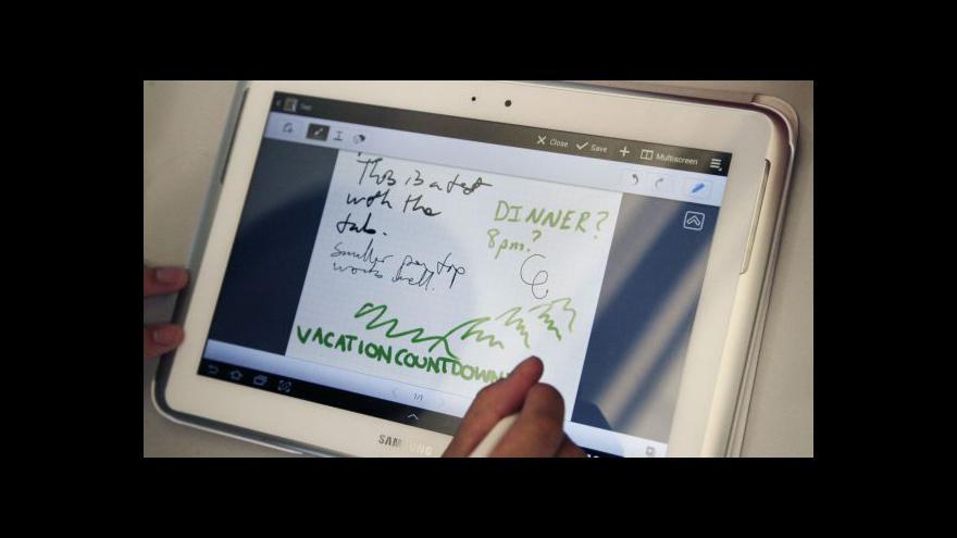 Video Nový tablet od Samsungu