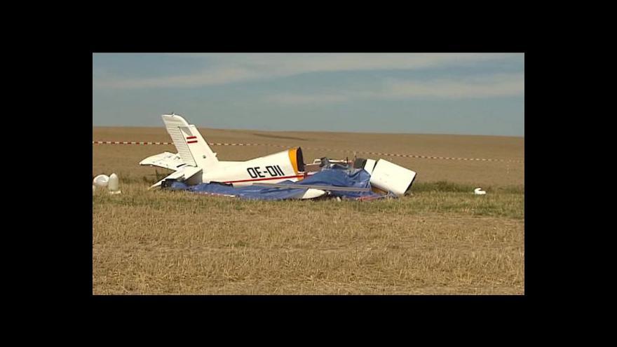 Video Na Opavsku se zřítilo letadlo