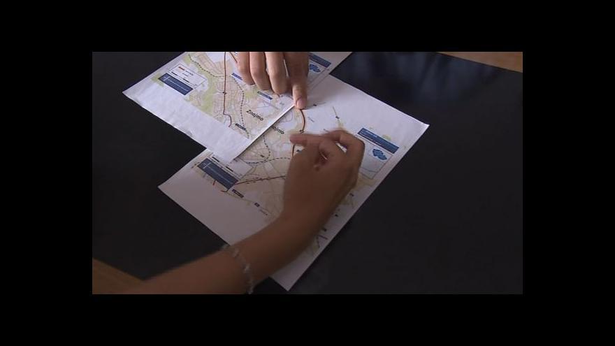 Video Starosta Znojma Gabrhel ukazuje trasu plánovaného obchvatu