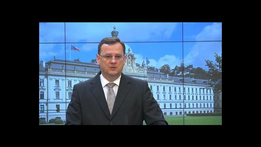 Video Reakce Petra Nečase na výroky Lessyho
