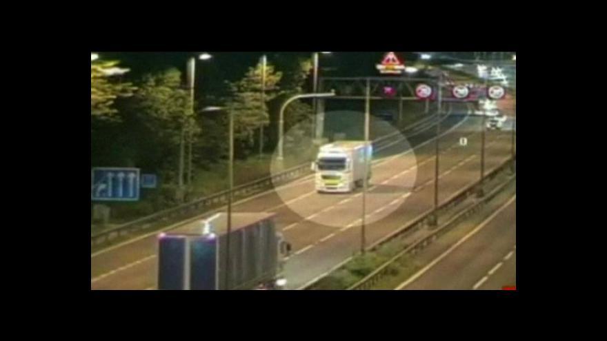 Video Jízda kamionu v protisměru