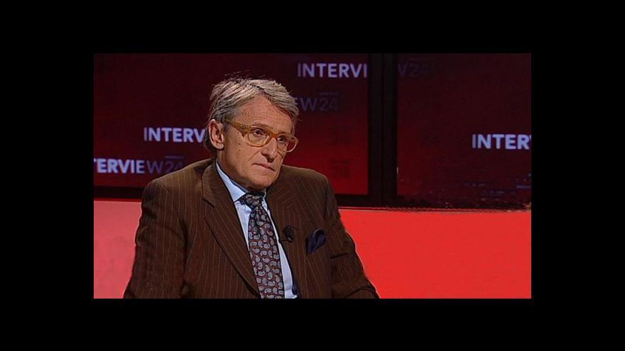 Video Petr Robejšek ve Studiu ČT24