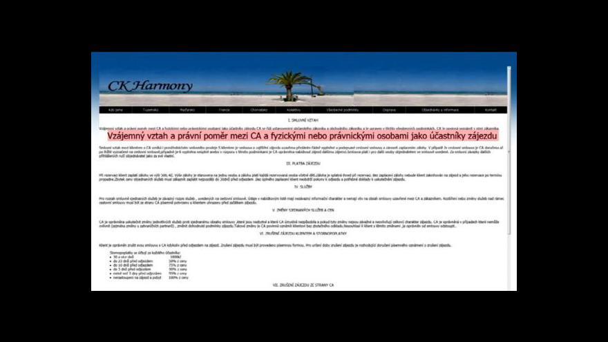 Video CK Harmony alias cestovní agentura