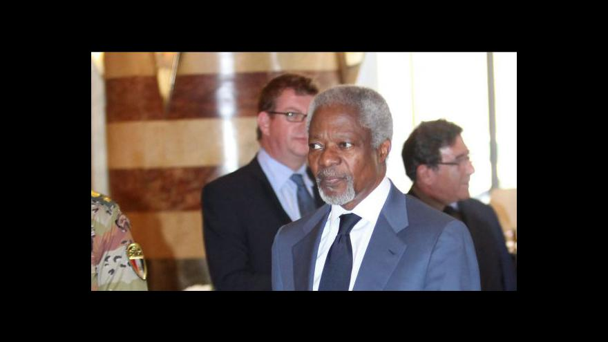 Video Kofi Annan jako zmocněnec OSN končí