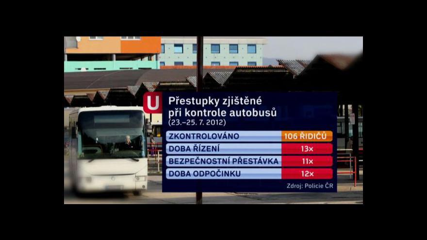 Video Kontroly řidičů autobusů