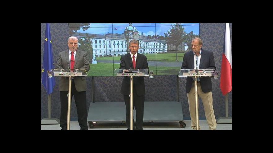 Video Brífink po mimořádném jednání předsednictva tripartity