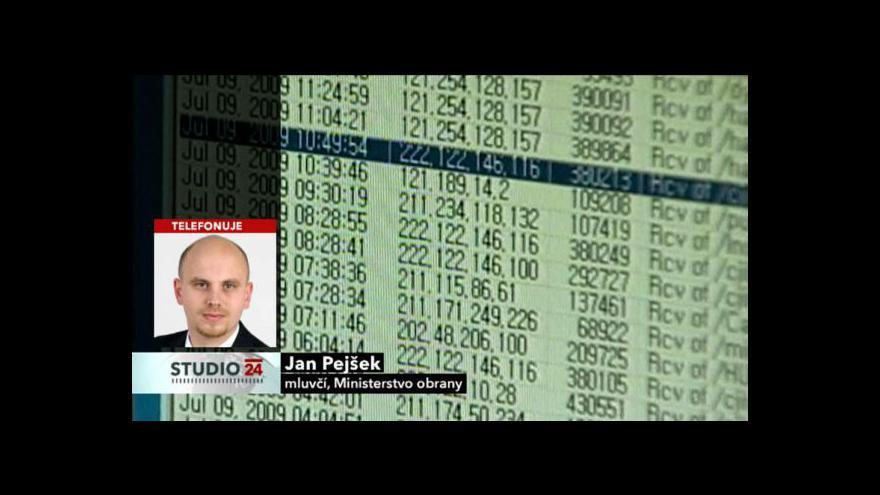 Video Rozhovor s mluvčím ministerstva obrany Janem Pejškem