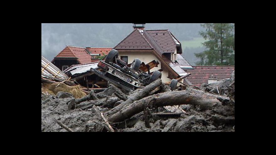 Video Následky bouřek ve Štýrsku