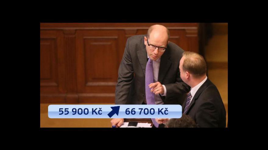 Video O platech ústavních činitelů rozhodne sněmovna