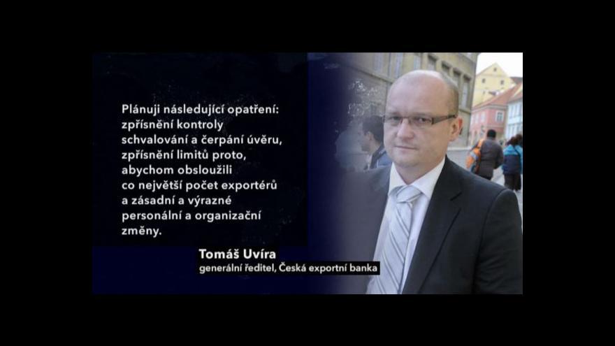 Video Česká exportní banka neoprávněně poskytovala úvěry za miliardy