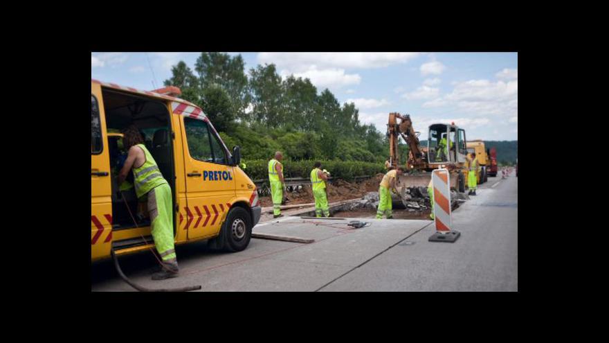 Video Události ČT o modernizaci dálnice D1
