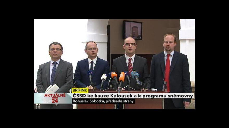 Video Brífink ČSSD k aféře kolem ministra financí