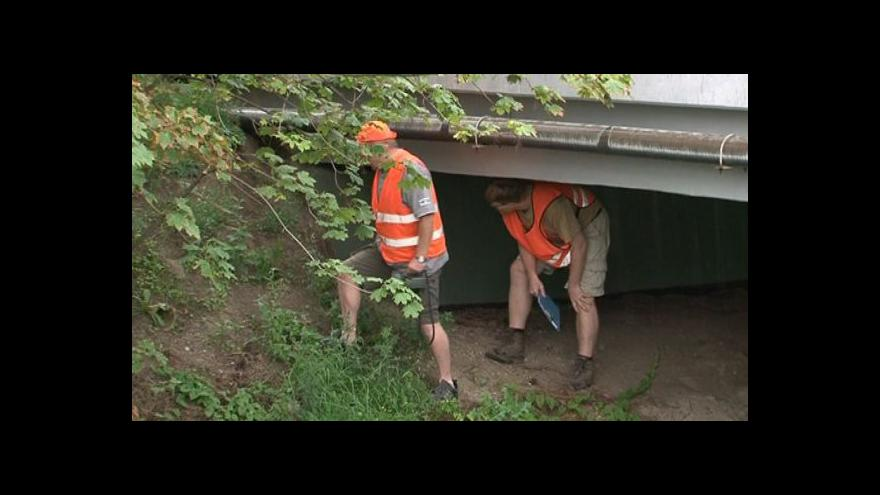 Video David Marván popisuje stav mostu