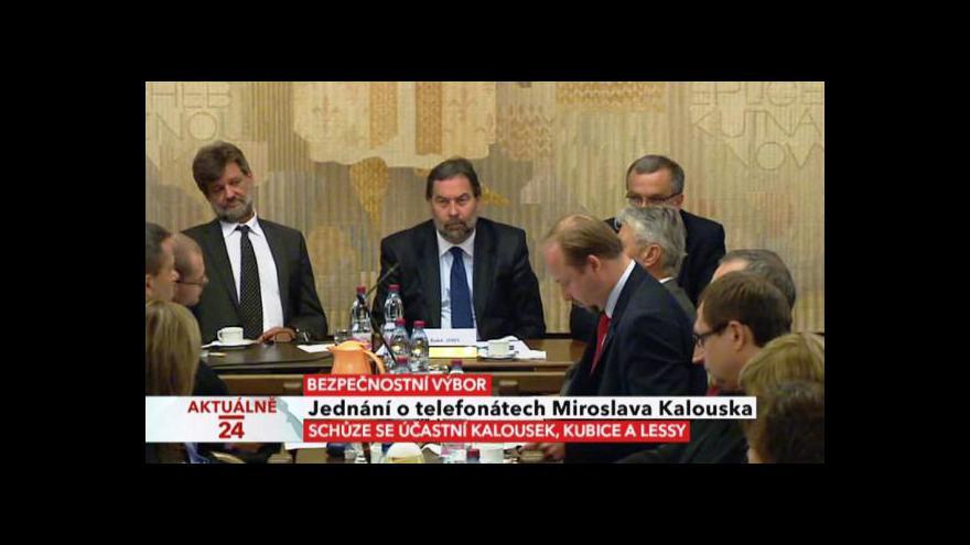 Video Jednání o telefonátech Lessyho a Kalouska