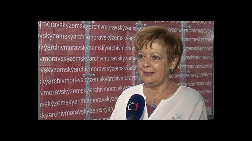 Video Hovoří ředitelka Moravského zemského archivu Kateřina Smutná