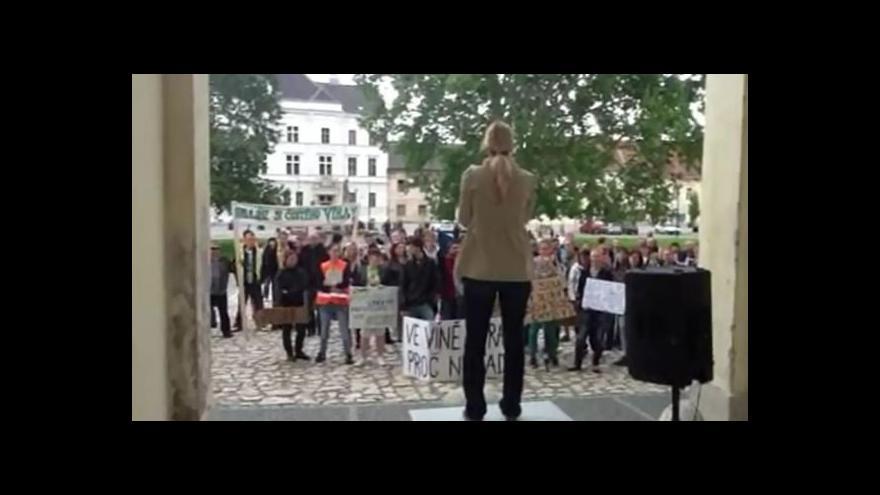 Video NO COMMENT: Protest studentů a učitelů vinařské školy z Valtic