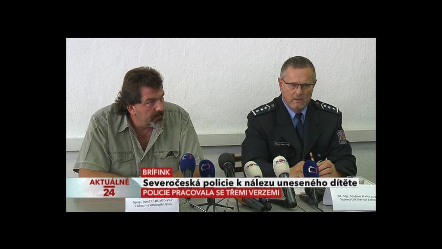 Video Brífink policie k únosu Michaly Janové