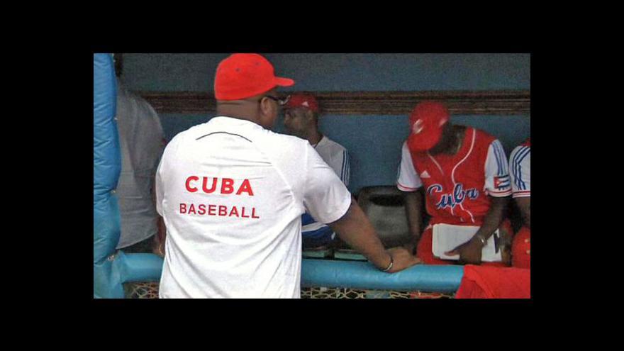 Video Baseballisté Kuby a USA hrají přátelské zápasy