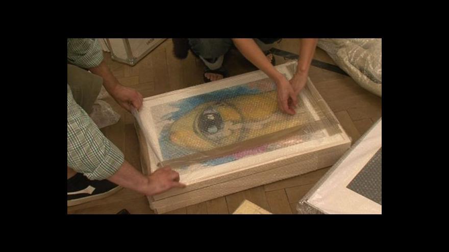 Video Výstava děl mladých umělců v Moravském Krumlově