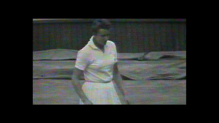 Video Věra Suková ve finále Wimbledonu